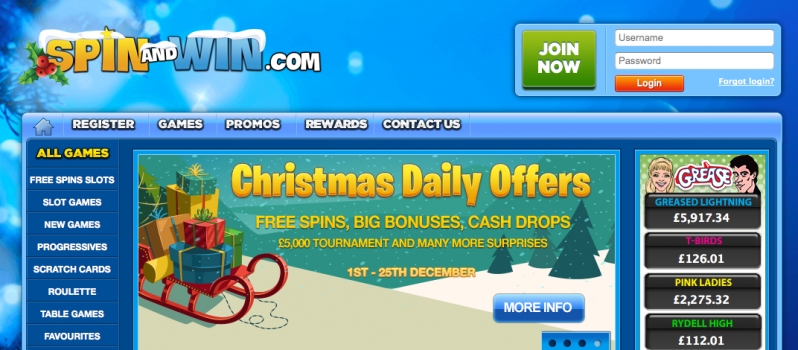 25 Days Of Daily Offers At Spin And Win Casino | Big Casinos – The